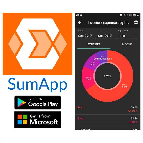 SumApp - private finances in a one pocket